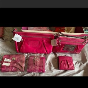 Coach pink wallets you pick all NWT prices vary